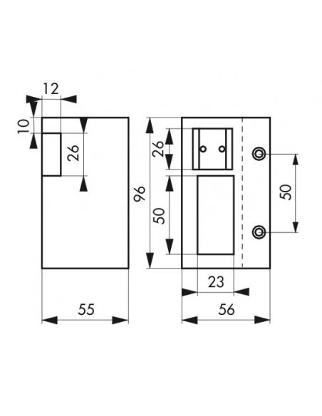 Gâche électrique pour serrure horizontale en applique, réversible, 12V, compatible extérieur, gris - THIRARD Gâche de porte