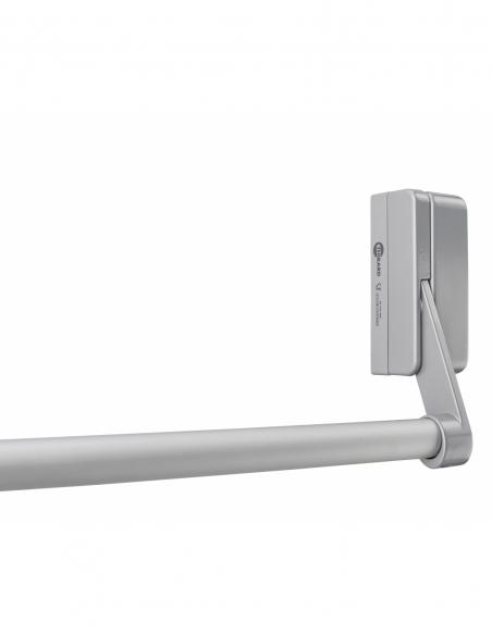 Serrure anti-panique D-Cross pour porte d'entrée 1150mm max, 1 pts latéral, réversible, gris - THIRARD Serrure en applique
