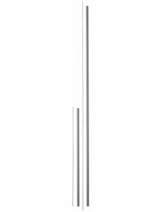 Kit de rallonge pour serrure antipanique, haut et bas, pour porte hauteur 3m max, gris - THIRARD Serrure