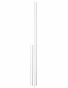 Kit de rallonge pour serrure antipanique, haut et bas, pour porte hauteur 3m max, blanc - THIRARD Serrure en applique