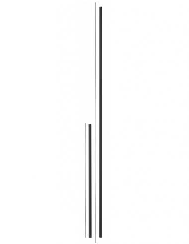 Kit de rallonge pour serrure antipanique, haut et bas, pour porte hauteur 3m max, noir - THIRARD Serrure en applique