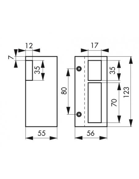 Gâche électrique pour serrure verticale en applique, réversible, 12V, compatible extérieur, gris - THIRARD Gâche de porte