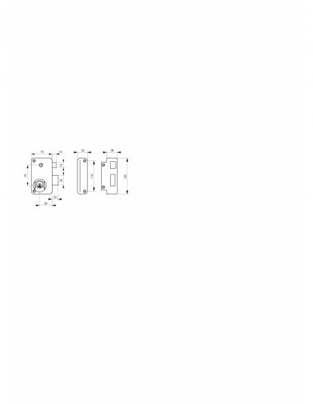 Serrure verticale en applique double entrée à fouillot pour porte d'entrée, droite, axe 45mm, 75x130mm, noir, 3 clés - THIRAR...