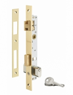 Serrure encastrable pour porte d'entrée avec cylindre, axe 14mm, 3 clés - THIRARD Serrure encastrable