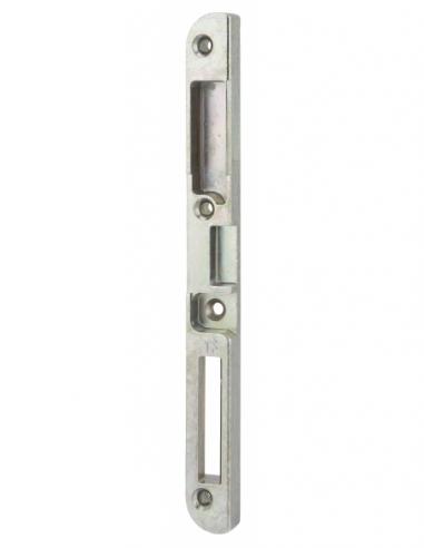 Gâche centrale encastrable pour porte d'entrée bois, droite, 190x18x13mm, compatible Trimatic, E-13742-00-R-1 - FERCO by THIR...