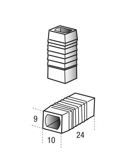 Guide de tringle pour crémone, x2, 0-6180-00-0-0 - FERCO by THIRARD Crémone