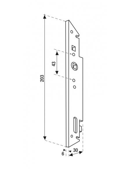 Crémone encastrable pour fenêtre bois, axe 10mm, carré 7mm, A-06120-00-0-1 - FERCO by THIRARD Crémone