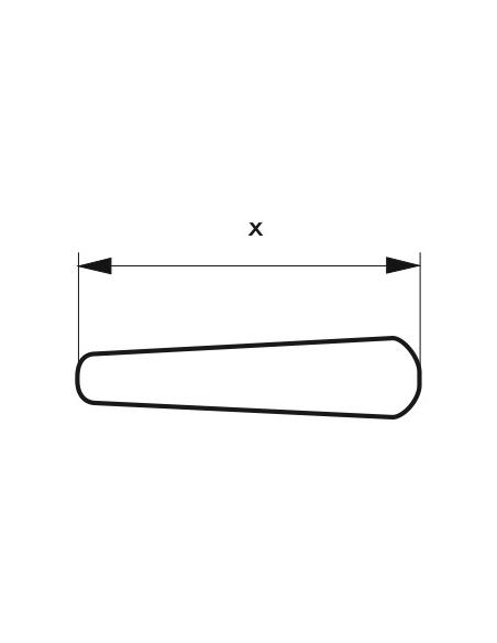 Paire de béquilles pour serrure de portail, carré 7mm, noir - THIRARD Poignée de porte