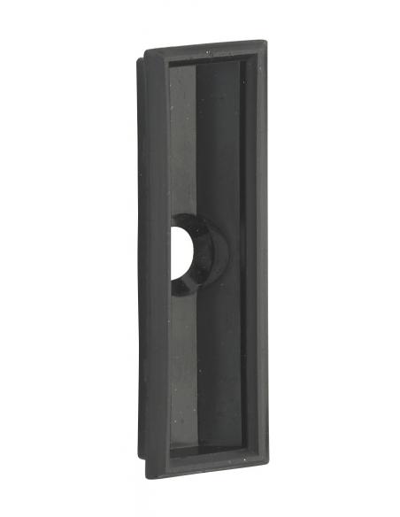 Gache plate inox, double empénage, compatible version pêne dormant et rouleau, 244 x 20 x 2,5mm - THIRARD Gâche de porte
