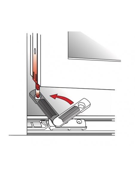 Anti-fausse manoeuvre de fenêtre pvc, pose en feuillure, gauche, 88x17mm, G-19821-01-L-1 - FERCO by THIRARD Equipement