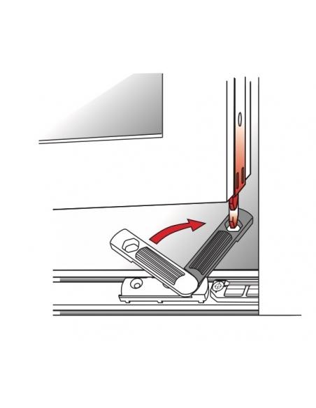 Anti-fausse manoeuvre de fenêtre pvc, pose en feuillure, droite, 88x17mm, G-19821-01-R-1 - FERCO by THIRARD Equipement