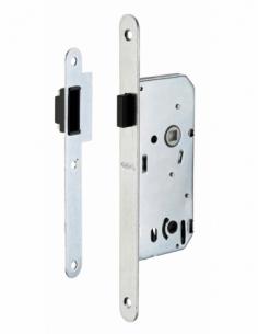 Serrure encastrable magnétique à condamnation pour salle de bain et toilette, axe 40mm, bouts ronds - THIRARD Serrure encastr...