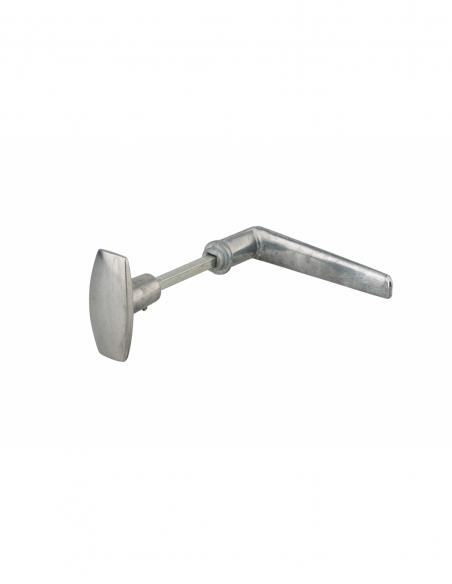 Ensemble bouton/béquille pour porte, carré 6mm, 1 portée, zingué - THIRARD Poignée