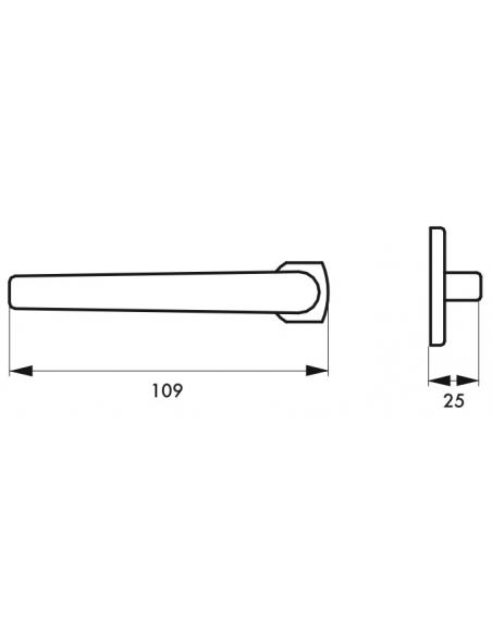 Paire de béquilles pour porte d'entrée Chantilly, carré 7mm, anodisé inox - THIRARD Poignée