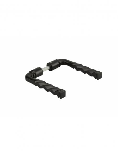 Paire de béquilles fil torsadé pour porte, carré 6x100mm, 1 portée, noir - THIRARD Poignée