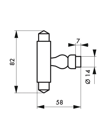 Paire de boutons torsadés pour porte d'entrée, fer, carré 6mm, 1 portée, noir - THIRARD Poignée