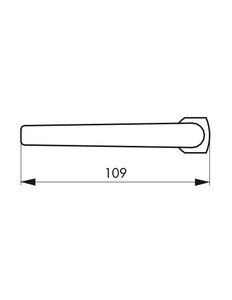 Paire de béquilles Crecy pour porte, carré 7mm, argent - THIRARD Poignée