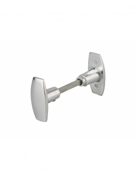 Paire de boutons pour porte, carré 6mm, 1 portée, argent - THIRARD Poignée