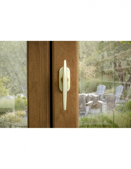 Paire de boutons entrebailleurs pour fenêtre, avec vis de pose, champagne - THIRARD Poignée