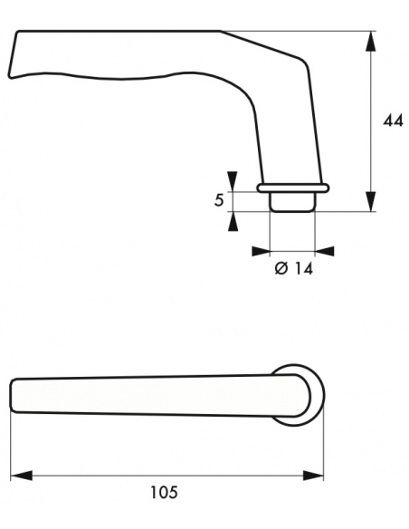 Paire de béquilles pour porte, carré 6mm, 1 portée, argent - THIRARD Poignée