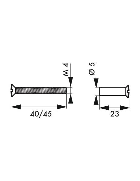 Vis métaux pour porte intérieure, 4x45mm pour aluminium avec douille - THIRARD Poignée