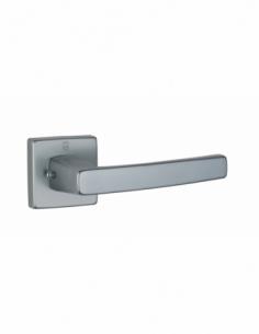 Paire de béquilles Archimede pour porte, carré 7mm, aspect inox - THIRARD Poignée