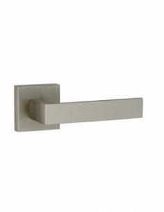 Paire de béquilles Fifty pour porte, carré 7mm, nickelé satiné - THIRARD Poignée