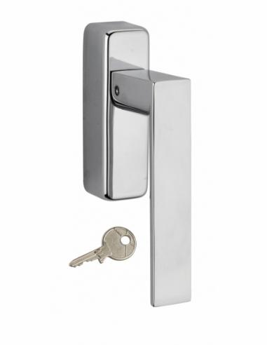 Béquille Fifty à clé pour fenêtre, chromé poli, 1 clé - THIRARD Poignée