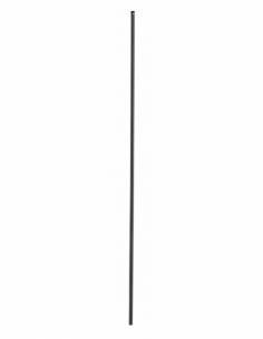 Tringle pour crémone 1.30m, pour fenêtre, 16 x 5mm, acier noir - THIRARD Poignée