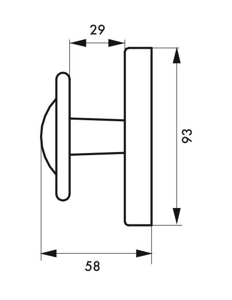 Bouton rustique pour fenêtre, carré 7mm, noir - THIRARD Poignée