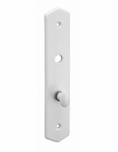 Plaque de propreté, bouton de condamnation, blanc - THIRARD Poignée