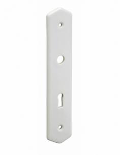 Plaque de propreté, trou de clé, blanc - THIRARD Poignée