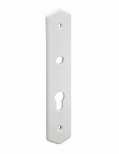 Plaque de propreté, trou de cylindre, blanc - THIRARD Poignée