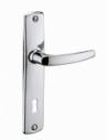 Ensemble de poignées pour porte intérieure Abbeville trou de clé, carré 7mm, entr'axes 165mm, chromé - THIRARD Poignée