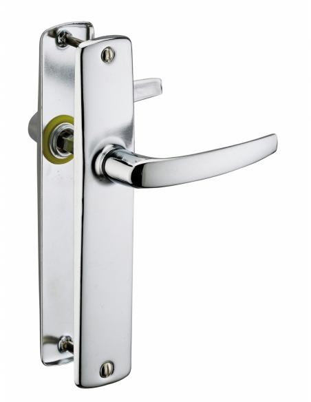 Ensemble de poignées pour porte intérieure Abbeville sans trou, carré 7mm, entr'axes 165mm, chromé - THIRARD Poignée