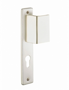 Ensemble de poignées pour porte d'entrée palière Picardie trou de cylindre, carré 7mm, entr'axes 195mm, couleur F2 - THIRARD ...