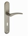 Ensemble de poignées pour porte intérieure Vesta trou de clé, carré 7mm, entr'axes 195mm, nickelé satiné - THIRARD Poignée