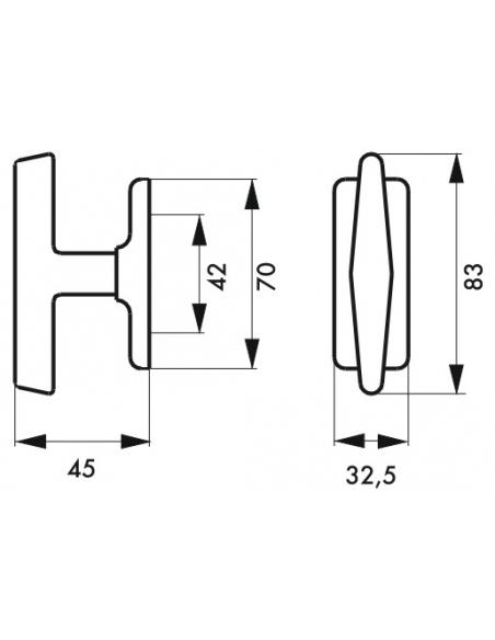 Bouton de fenêtre Arthemis, laiton - THIRARD Poignée