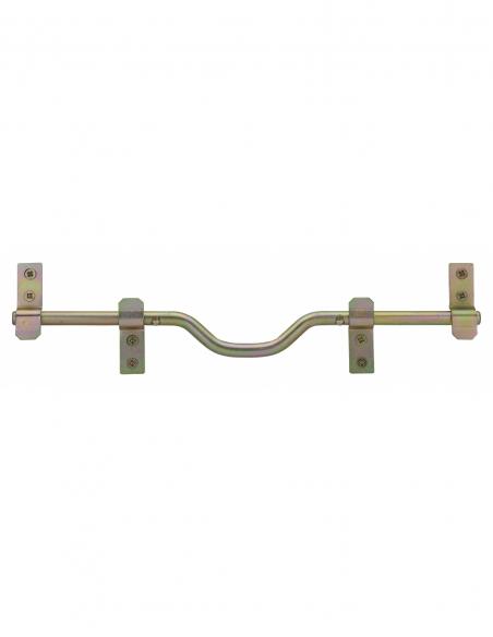 Barre de sécurité pour volet bois, non cadenassable, acier, Ø14x460mm, zingué - THIRARD Equipement