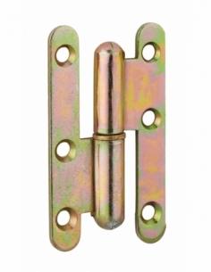 Charnière de porte d'entrée/intérieure, 80x45mm, acier, gauche - THIRARD Equipement