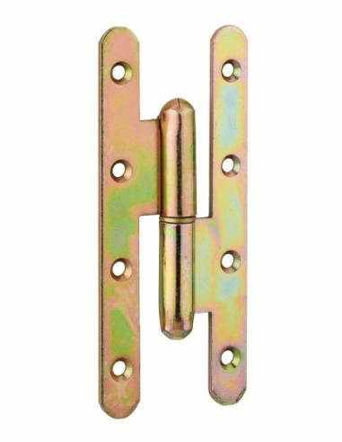 Charnière de porte d'entrée/intérieure, 140x55mm, acier, droite - THIRARD Equipement