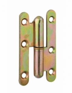 Charnière de porte d'entrée/intérieure, 80x45mm, acier, droite - THIRARD Equipement