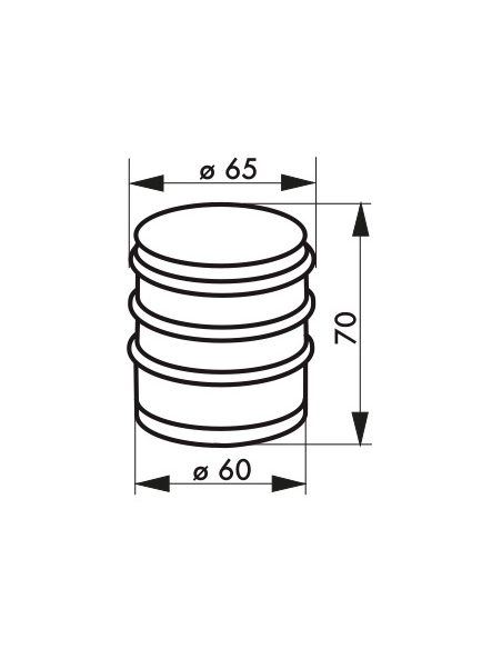 Butoir à visser, fixation au sol, acier, Ø65x68mm, pour 1kg, chromé - THIRARD Equipement