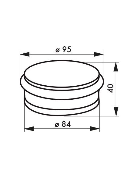 Butoir à visser, fixation au sol, acier, Ø95x40mm, pour 1kg3, chromé - THIRARD Equipement