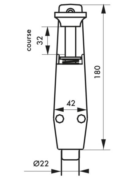 Arrêt de porte, frein caoutchouc, 180mm, laqué blanc - THIRARD Equipement