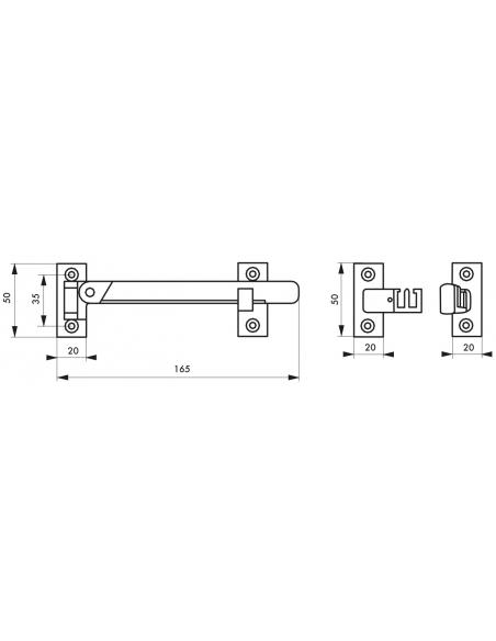 Entrebailleur de fenetre et porte fenetre, 1 ou 2 vanteaux ton bois - THIRARD Equipement