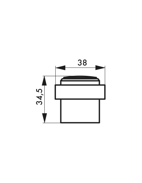 Butoir à visser, fixation au sol, aluminium, Ø36x47mm, chromé - THIRARD Equipement