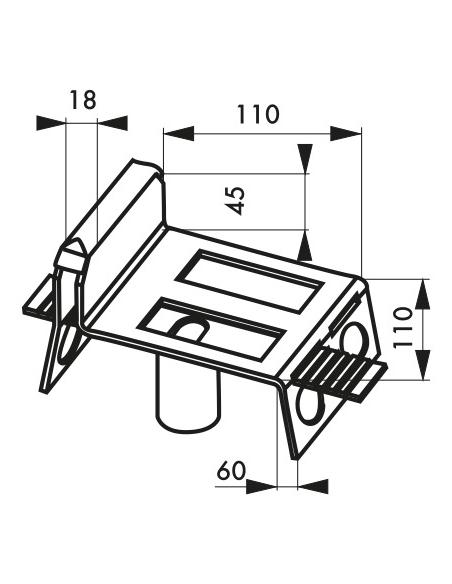 Sabot à sceller pour porte, glissière réglable, acier - THIRARD Equipement