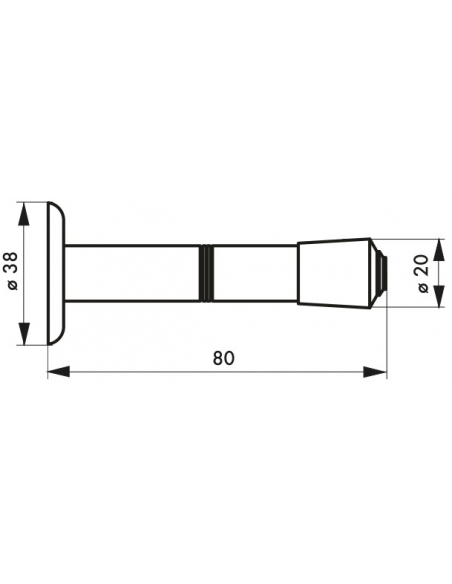 Butoir balustre, fixation au mur, Ø20x80mm, chromé - THIRARD Equipement