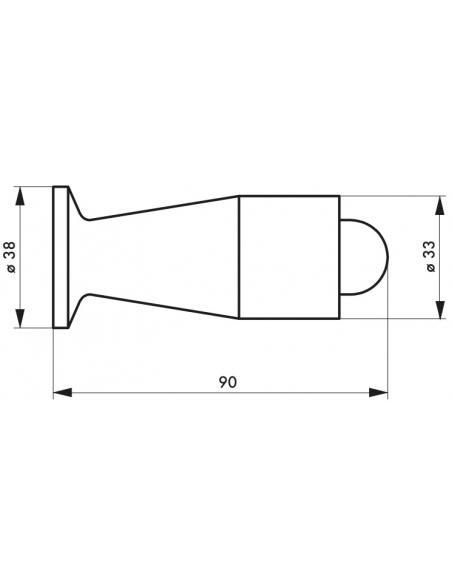 Butoir balustre, fixation au mur, plastique, Ø38x90mm - THIRARD Equipement